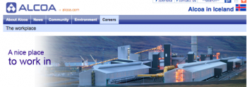 \'a nice place to work in\': image from Alcoa Fjarðaál website.