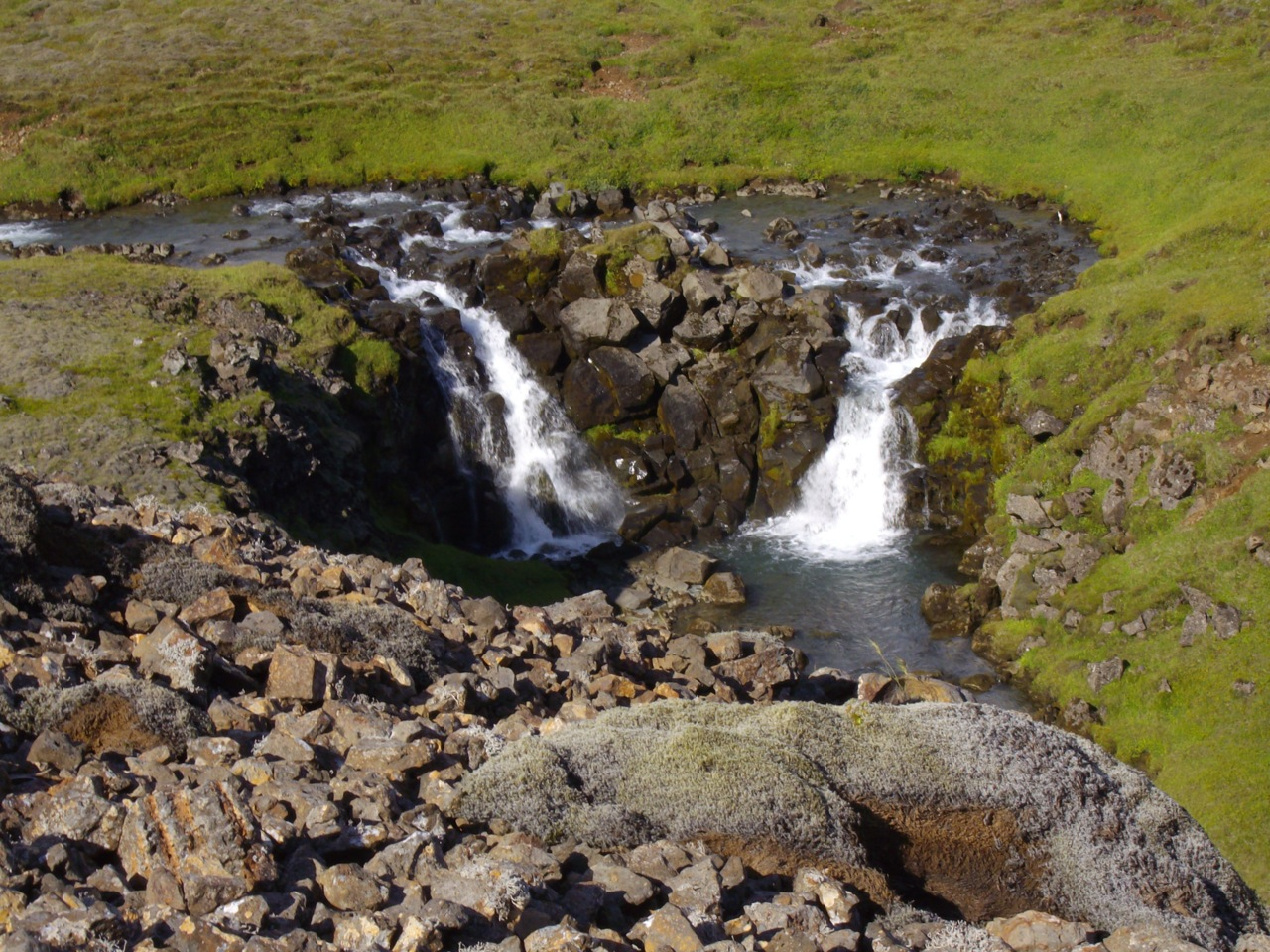 Waterfall near the camp in Hengill
