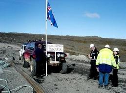 In September 2006, Þórhallur and a friend of his stopped construction at Kárahnjúkar