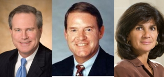 From left to right: Arthur D. Collins, Michael G. Morris, Patricia F. Russo