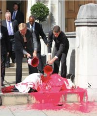 Vedanta AGM Protest 2012: Blood Spilled on a Woman