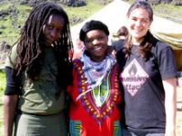 Attilah Springer and Lerato Maregele at Saving Iceland Camp 2007
