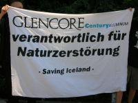 Demonstration outside Glencore's Switzerland headquarters.
