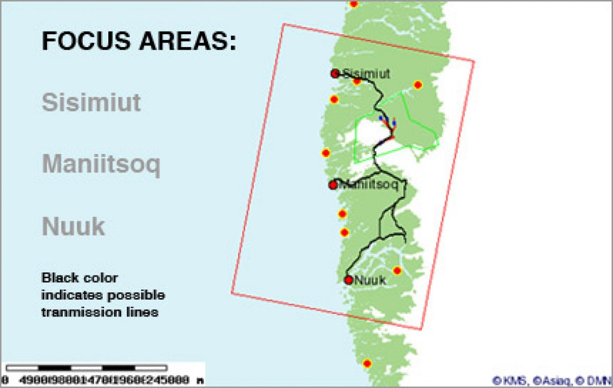 POSSIBLE LOCATIONS FOR ALUMINUM SMELTER IN GREENLAND