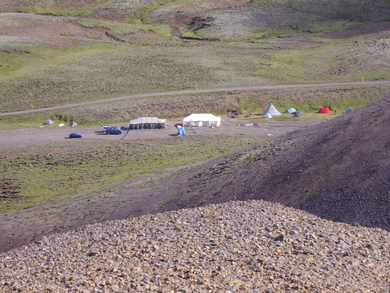 Camp in Hengill