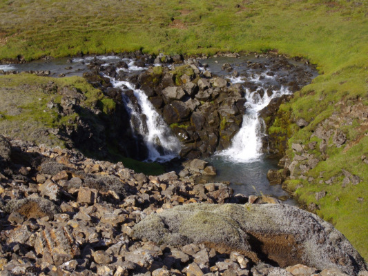 Waterfall near the camp in Hengill