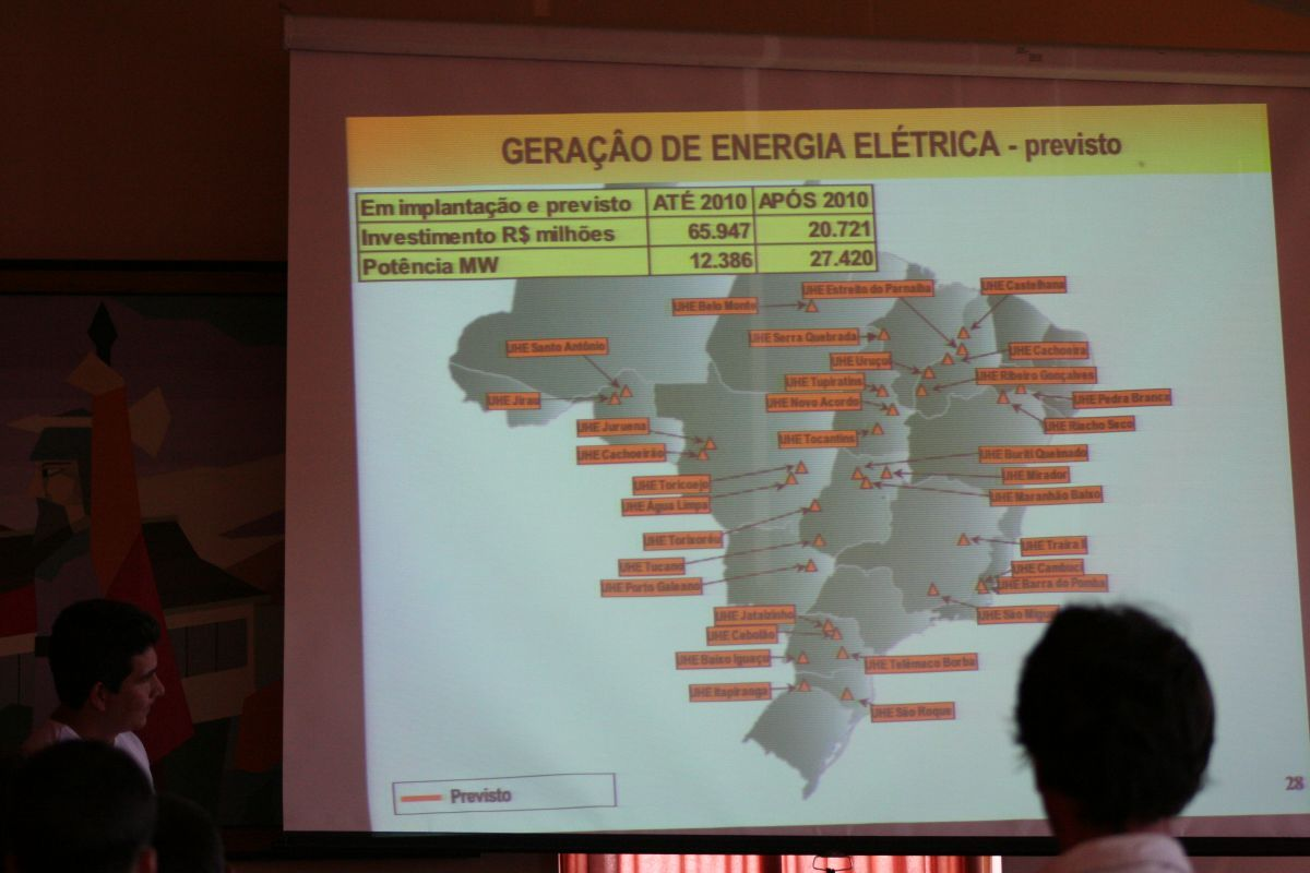 Cirineu shows new dams planned in Brazil