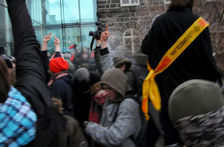 Protesters get peppersprayed