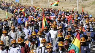 Bolivia: Protest against Glencore