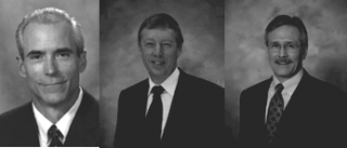 Wayne R. Hale (left), Peter Jones (centre) and David J. Kjos (right)
