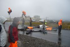 Century Aluminum and Alkem Alloys Steelfactory Blockade 21 july 2008