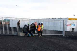 Locked on to the gate of Helguvík