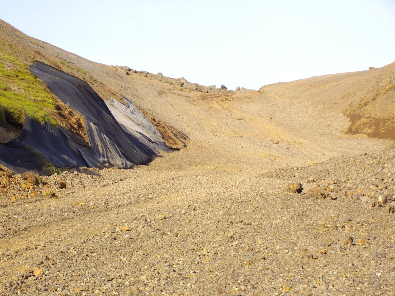 Destroyed mountain area
