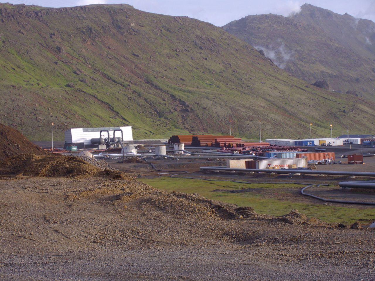 Pipe welding site