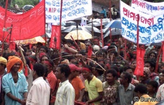 A 3,000 peoples protest against Vedanta