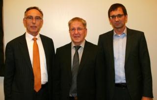 Landsvirkjun's Directors Unite! -- From left to right: Friðrik Sophuson (director from 1998 to 2010), Agnar Olsen (acting director in October 2010) and Hörður Arnarson (current director)