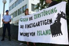 Demonstration outside Glencore's Switzerland headquarters.