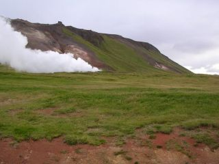 Þeistareykir scenery before drilling (2004)