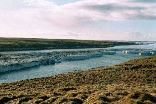 Icebergs on Þjórsá