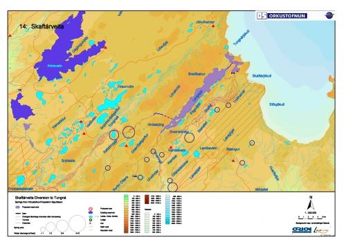 Skaftaveida / Langisjor Project Area Map
