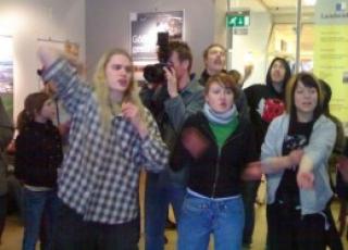 Protest in Landsvirkjun offices.jpg
